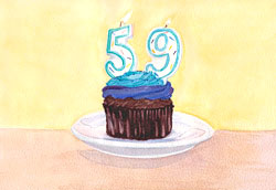 artfulpassages.com - Watercolor Birthday Cake