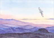 Soaring Death Valley - Watercolor