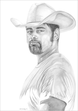 Working on the Fence - Pencil
