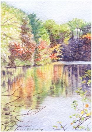 Lake Scene - Watercolor