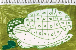 Artwork: Green Patterns in Marker