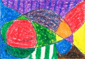 Art Sam 5 years old patterns crayon