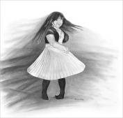 Sarah Twirling - Pencil