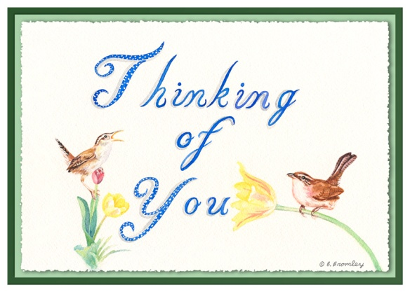 Card taken from a watercolor painting by Barbara Bromley, a.k.a. Artful Barb.